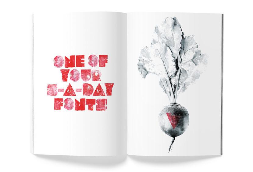 Veggie font sample 1